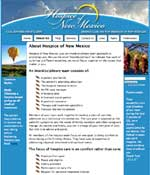 Click to go to Hospice of New Mexico's website.