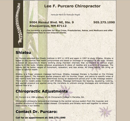 Dr. Lee Purcaro, Chiropractor