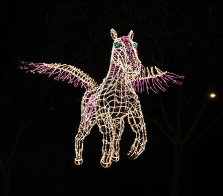 Lighted Pegasus